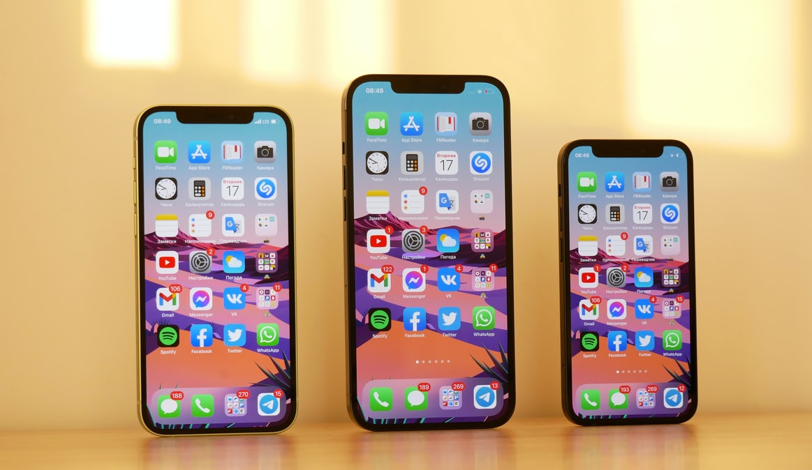 iPhone 12, 12 Pro Max & 12 mini