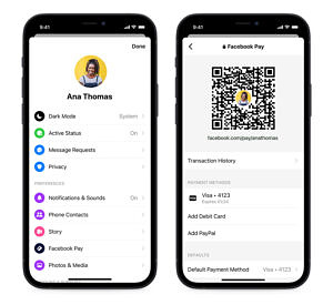 Facebook Messanger QR codes and payment links